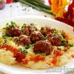 Итальянская паста с фрикадельками