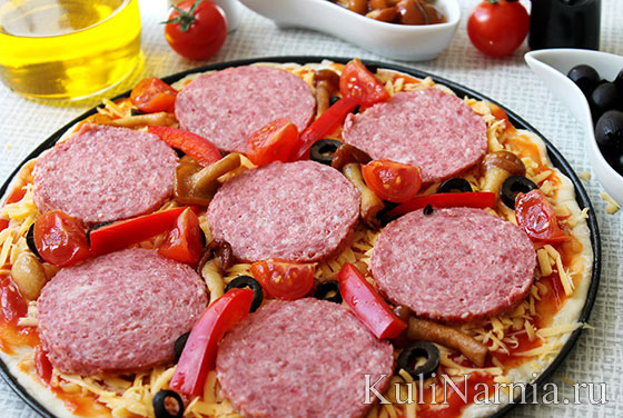 Вкусная пицца в духовке