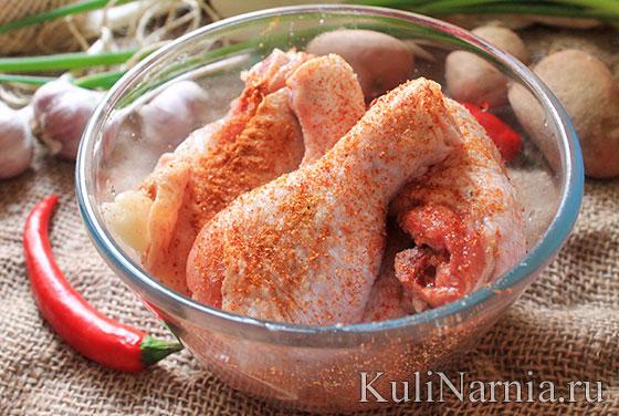 блюда из картошки и курицы
