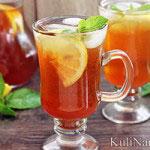 Холодный чай с имбирем и лимоном