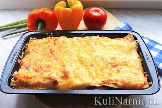 лазанья с мясом рецепт