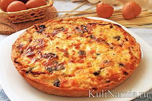 лоранский пирог рецепт с грибами