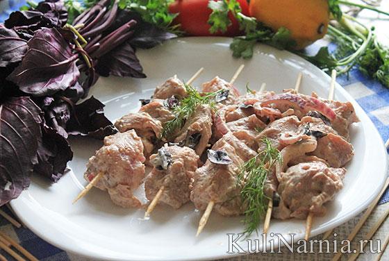 Мясо на шпажках пошагово 31