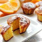 Апельсиновые кексы в силиконовых формочках