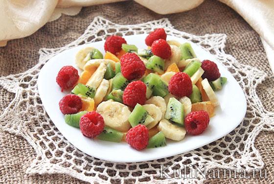 Рецепты фруктовых салатов с фото и калориями