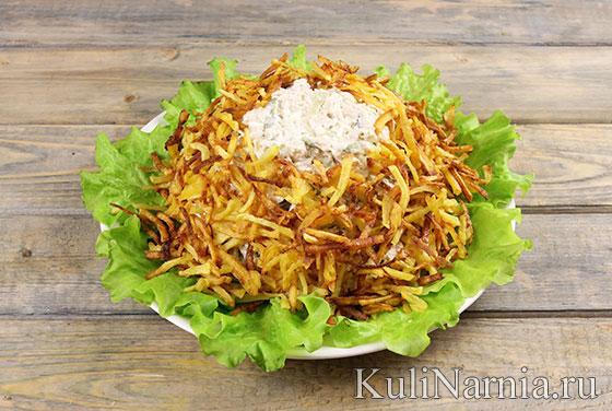 салат гнездо глухаря пошаговый рецепт с говядиной