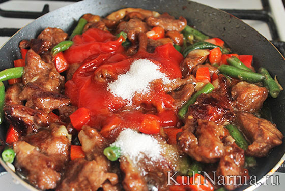 мясо с овощами рецепт