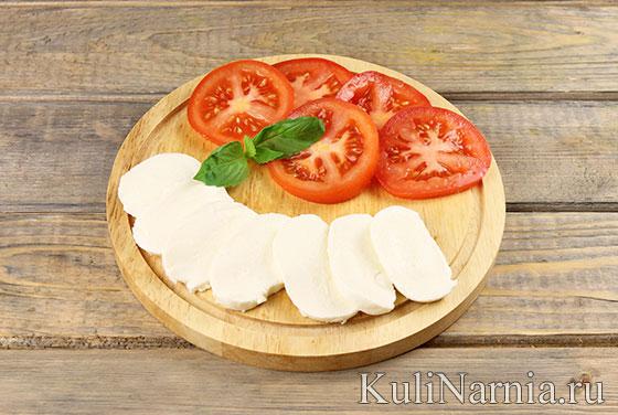 Пирог с моцареллой и помидорами рецепт с фото
