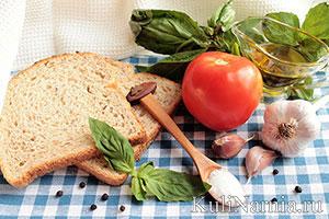как приготовить брускетту с помидорами и базиликом