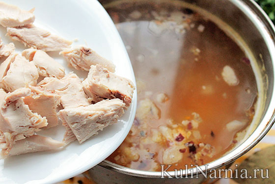 куриный суп сырный