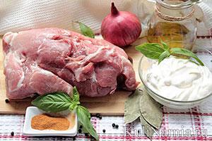 мясо тушеное в сметане состав