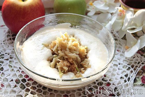 оладьи с яблоками рецепт