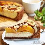 Пирог с консервированными персиками — 2 рецепта