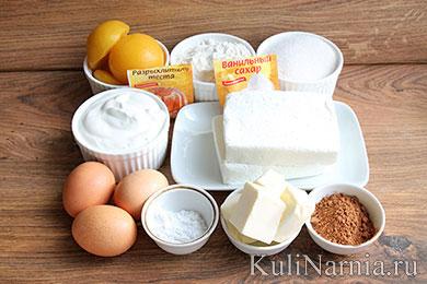 Пирог с консервированными персиками состав
