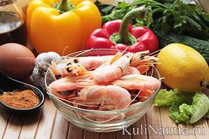 простой салат с креветками состав