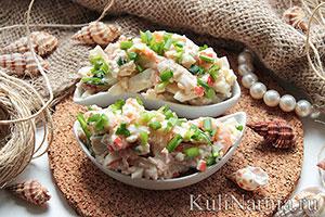 салат нептун рецепт с кальмарами