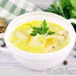Суп с плавленым сыром и куриной грудкой