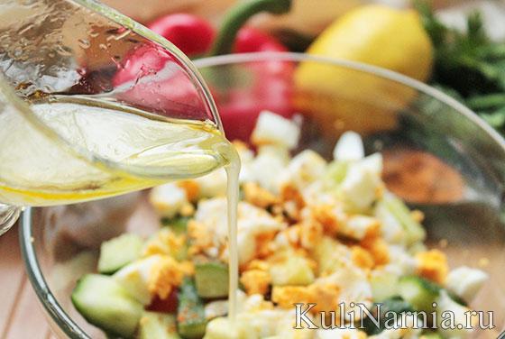вкусный салат с креветками заправка