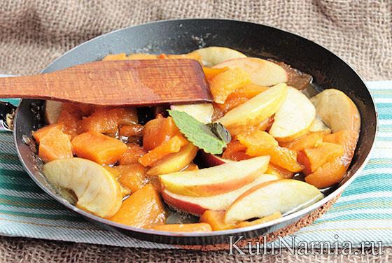 Как сделать салат из яблок и тыквы