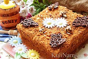 Медовый торт с заварным кремом рецепт