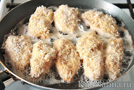 Наггетсы куриные на сковороде