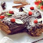 Шоколадный торт «Рождественское полено»