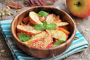 Салат из тыквы с яблоком