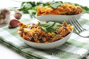 Салат обжорка рецепт с говядиной