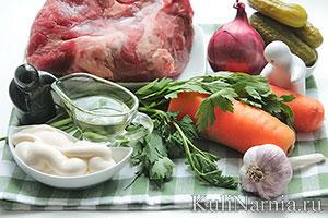 Салат обжорка с говядиной состав