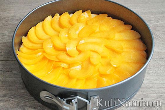 Как приготовить чизкейк с персиками