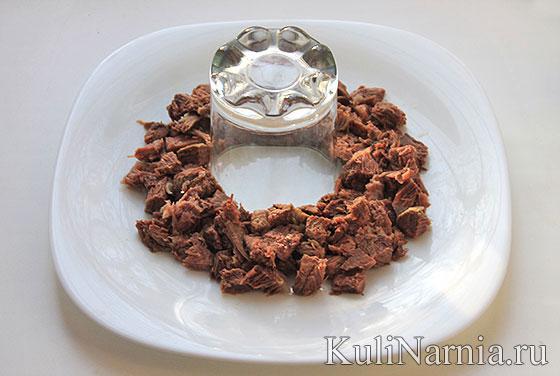 Рецепт салата гранатовый браслет классический