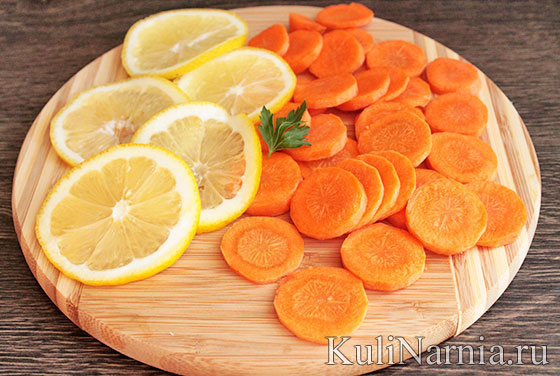 Сазан в духовке с овощами