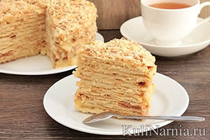 Торт наполеон рецепт в домашних условиях