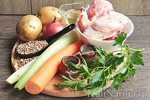 Греческий суп с курицей состав