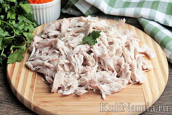 Как готовить салат кучками с курицей