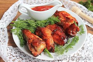 Куриные крылья в медовом соусе рецепт