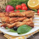 Куриные шашлычки на сковороде