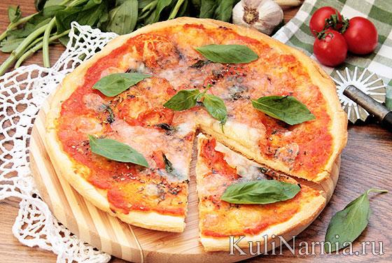 Настоящая итальянская пицца маргарита