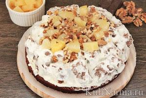 Пошаговый рецепт торта панчо с ананасом