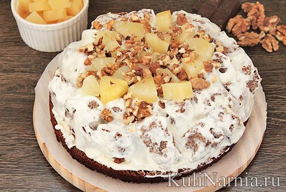 Рецепт торт панчо с ананасами