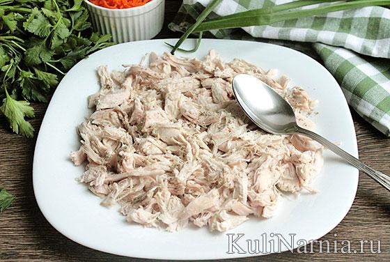Салат с курицей и овощами рецепт
