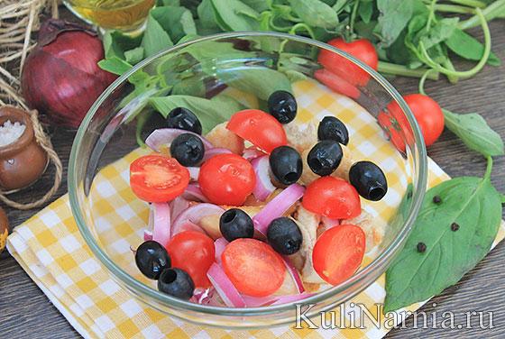легкий и вкусный и быстрый рецепт салата