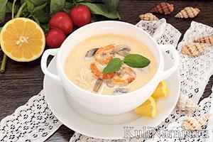 Тайский суп том ям рецепт