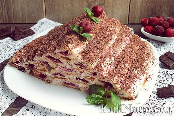 Торт изба с вишней