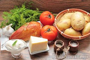 Фаршированный картофель в духовке состав