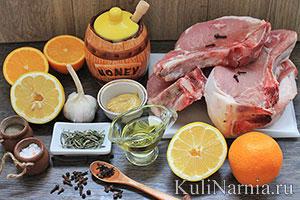 Корейка свиная в духовке состав