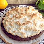 Песочный пирог с лимонной начинкой и меренгой
