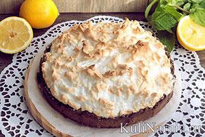 Песочный пирог с лимонной начинкой