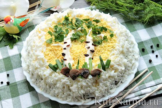 Салат Березка с куриным филе