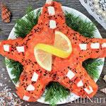 Салат «Морская звезда» с семгой